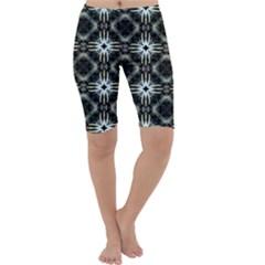 Faux Animal Print Pattern Cropped Leggings