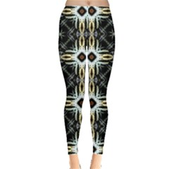 Faux Animal Print Pattern Leggings