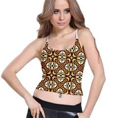 Faux Animal Print Pattern Women s Spaghetti Strap Bra Top