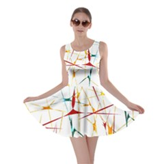 Colorful Splatter Print Skater Dress