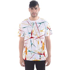 Colorful Splatter Print Men s Sport Mesh Tee