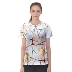 Colorful Splatter Print Women s Sport Mesh Tee