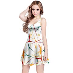 Colorful Splatter Print Sleeveless Dress