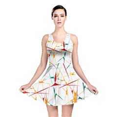 Colorful Splatter Print Reversible Skater Dress