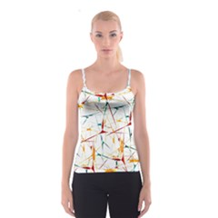 Colorful Splatter Print Spaghetti Strap Top