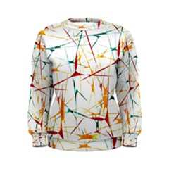 Colorful Splatter Print Women s Sweatshirt