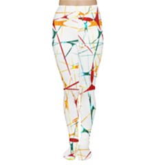 Colorful Splatter Print Tights
