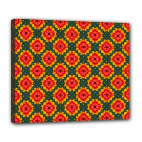 Cute Pretty Elegant Pattern Deluxe Canvas 24  X 20  (framed)