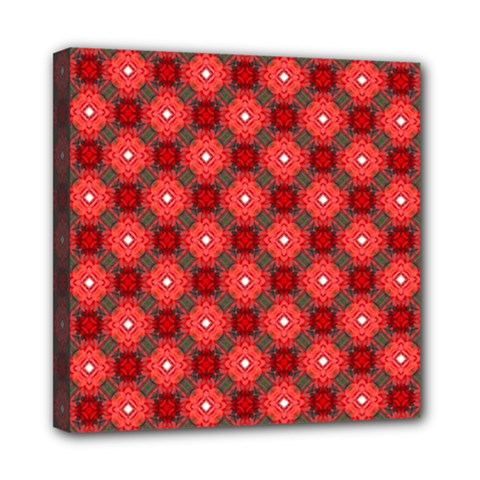 Cute Pretty Elegant Pattern Mini Canvas 8  X 8  (framed)