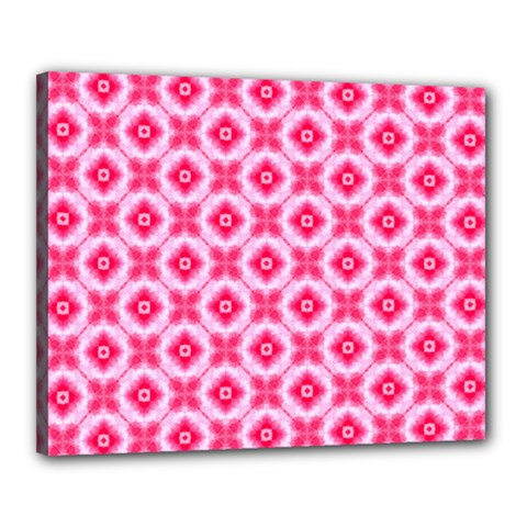 Cute Pretty Elegant Pattern Canvas 20  X 16  (framed)
