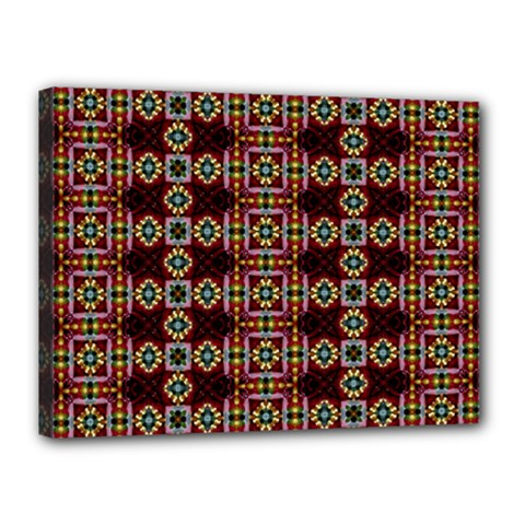 Cute Pretty Elegant Pattern Canvas 16  X 12  (framed)
