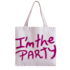 I Am The Party Typographic Design Quote Grocery Tote Bag