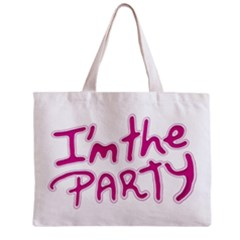 I Am The Party Typographic Design Quote Tiny Tote Bag