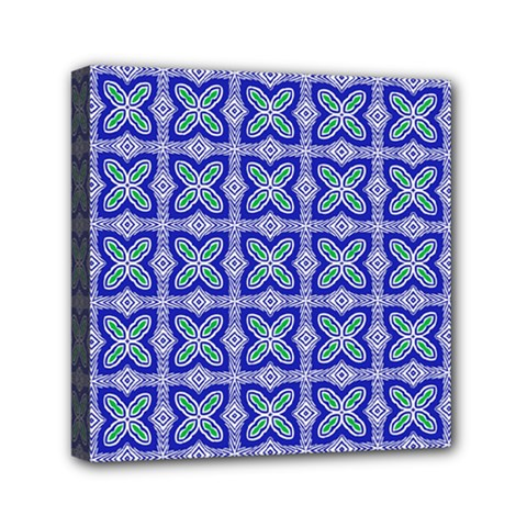 Cute Pretty Elegant Pattern Mini Canvas 6  X 6  (framed)