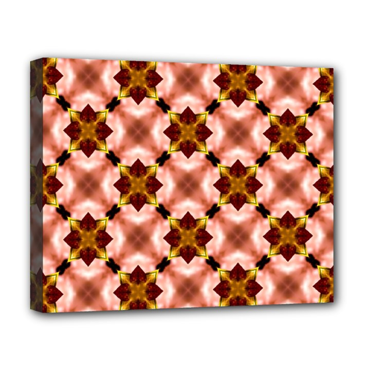 Cute Pretty Elegant Pattern Deluxe Canvas 20  x 16  (Framed)
