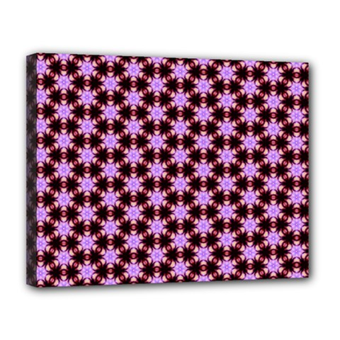 Cute Pretty Elegant Pattern Canvas 14  X 11  (framed)
