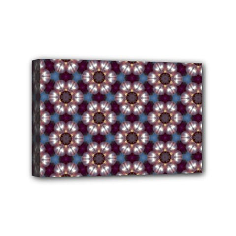 Cute Pretty Elegant Pattern Mini Canvas 6  X 4  (framed)