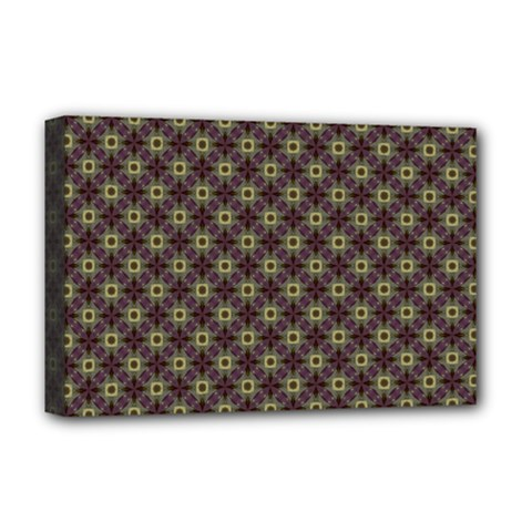 Cute Pretty Elegant Pattern Deluxe Canvas 18  X 12  (framed)