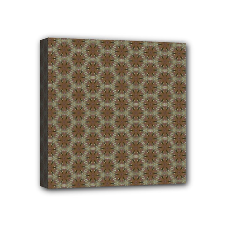 Cute Pretty Elegant Pattern Mini Canvas 4  x 4  (Framed)
