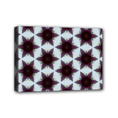 Cute Pretty Elegant Pattern Mini Canvas 7  X 5  (framed)