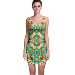Colorful Modern Pattern Collage Bodycon Dress