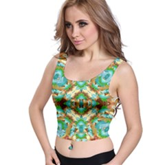 Colorful Modern Pattern Collage Crop Top