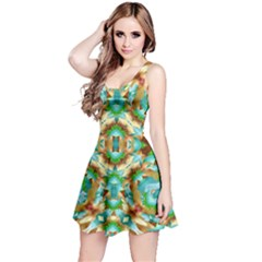 Colorful Modern Pattern Collage Sleeveless Dress