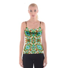 Colorful Modern Pattern Collage Spaghetti Strap Top