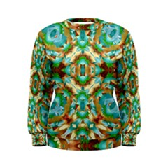 Colorful Modern Pattern Collage Women s Sweatshirt