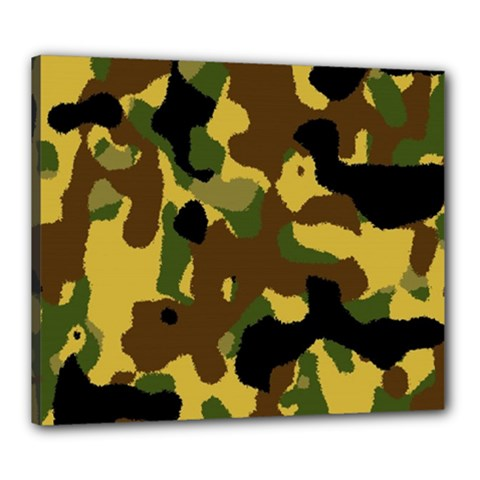Camo Pattern  Canvas 24  X 20  (framed)