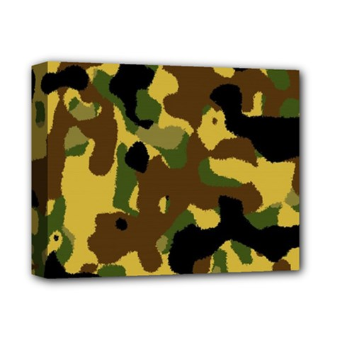 Camo Pattern  Deluxe Canvas 14  X 11  (framed)