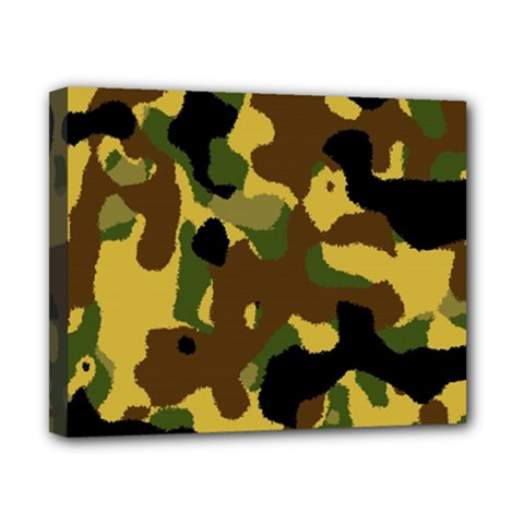 Camo Pattern  Canvas 10  X 8  (framed)