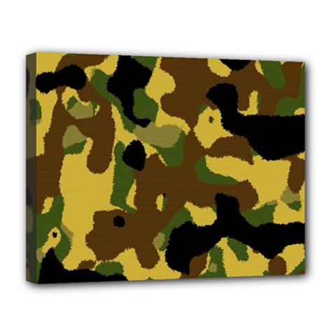 Camo Pattern  Canvas 14  X 11  (framed)