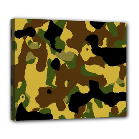 Camo Pattern  Deluxe Canvas 24  X 20  (framed)