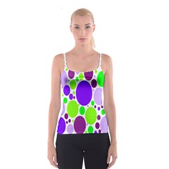 Colored Polka Dots Spaghetti Strap Top