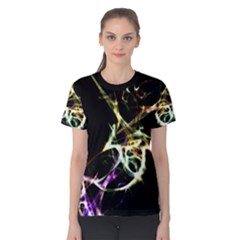 Futuristic Galaxy Dance  Women s Cotton Tee