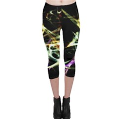 Futuristic Galaxy Dance  Capri Leggings