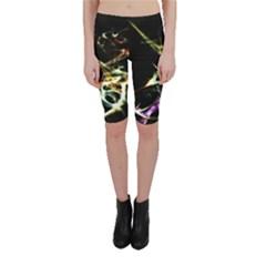 Futuristic Galaxy Dance  Cropped Leggings