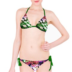 Officially Sexy Green Floating Hearts Collection Bikini