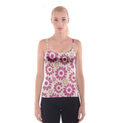 Floral Print Collage Pink Pink Spaghetti Strap Top
