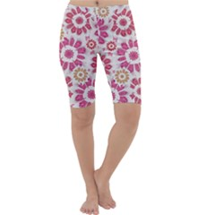 Floral Print Collage Pink Pink Cropped Leggings