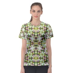 Neo Noveau Style Floral Print Women s Sport Mesh Tee