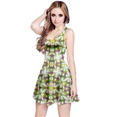Neo Noveau Style Floral Print Sleeveless Dress