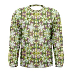 Neo Noveau Style Floral Print Long Sleeve T-shirt (Men)