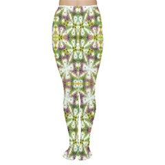 Neo Noveau Style Floral Print Tights