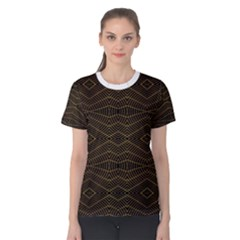 Futuristic Geometric Design Women s Cotton Tee