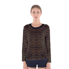 Futuristic Geometric Design Long Sleeve T-shirt (Women)