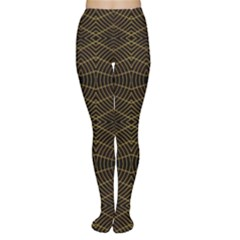 Futuristic Geometric Design Tights