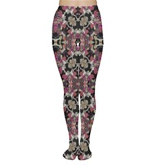 Floral Arabesque Print Tights