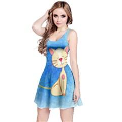 cute cat Sleeveless Dress
